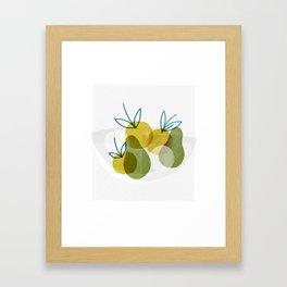 Apple Bowl Framed Art Print