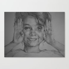 A smiling girl Canvas Print