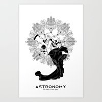astronomy Art Prints featuring Astronomy by Verdant Winter