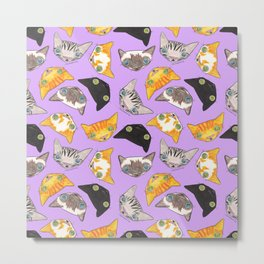 """Oro?"" Cats-Lavender Metal Print"