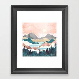 Lake Sunrise Framed Art Print