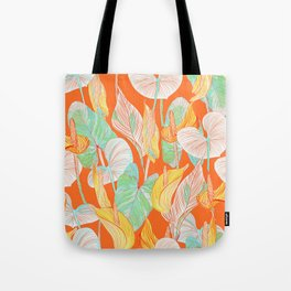 Lush Lily - orange zest Tote Bag