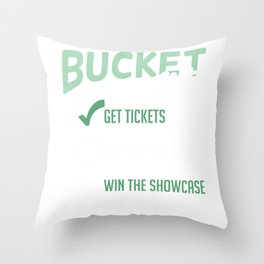 Bucket List Get Tickets Spin Wheel Win Game Show Throw Pillow