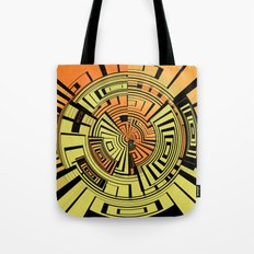 Futuristic technology abstract Tote Bag