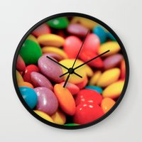 confetti Wall Clocks featuring Confetti by Studio Laura Campanella