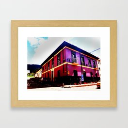Colonial House Bogota Colombia Framed Art Print