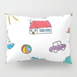 Lovely Kids Doodle Pillow Sham