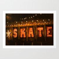 skate Art Prints featuring Skate by Errne