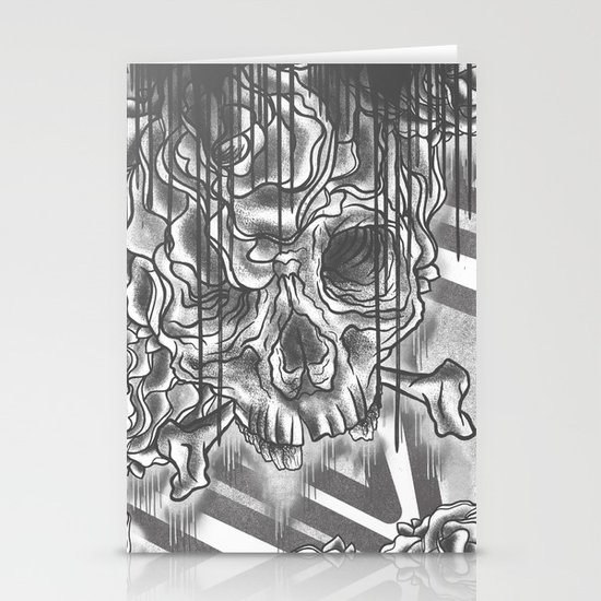 Skull Morph Stationery Cards