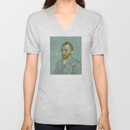 Vincent van Gogh - Self Portrait Unisex V-Neck