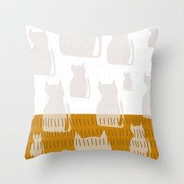 Coit Cat Pattern 4 Throw Pillow