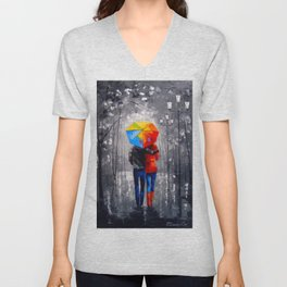 Bright walk Unisex V-Neck