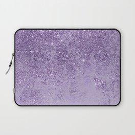 Modern elegant lavender lilac glitter marble Laptop Sleeve