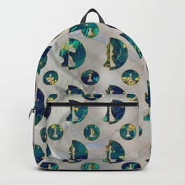 Marble and Gold Chessboard and Chess Pieces pattern Backpack