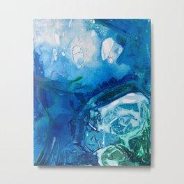 Deep Blue Ocean Life Metal Print
