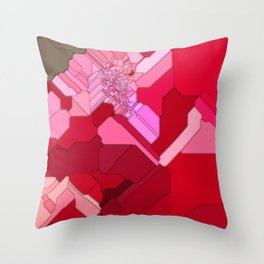 Red Abstract from a Geranium Throw Pillow