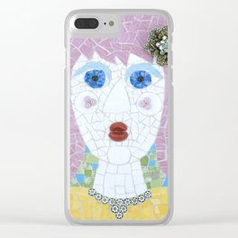Mosaic - Ingrid Spots Her Soulmate Clear iPhone Case