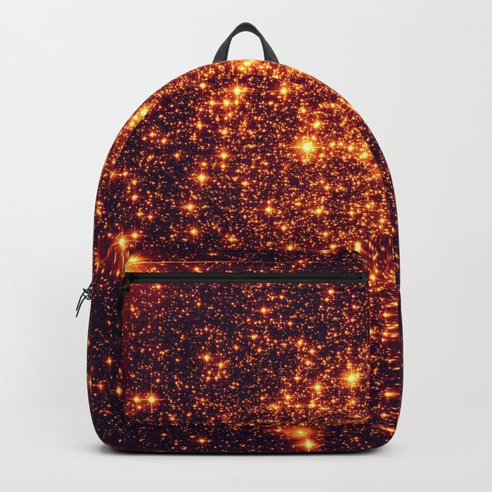 Copper Bronze Glitter Stars Backpack