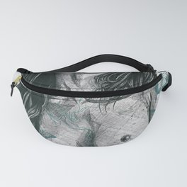 Nothing Violates This Nature: Teal (nude butterfly girl, erotic portrait) Fanny Pack