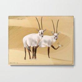 Arabian Oryx Metal Print
