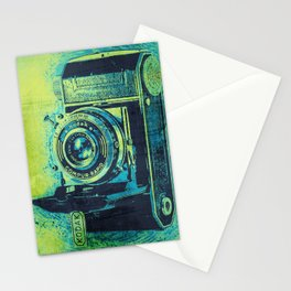 Green Retro Vintage Kodak Camera Stationery Cards