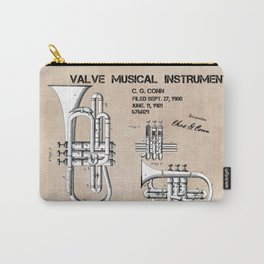 Valve musical instrument patent art Carry-All Pouch