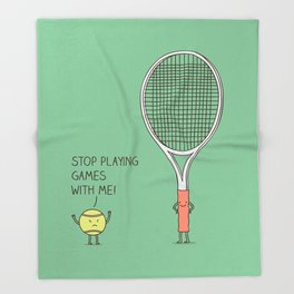 Angry ball Throw Blanket