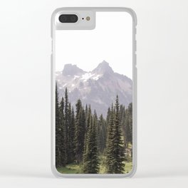 Mountain Wilderness - Nature Photography Clear iPhone Case