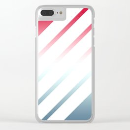 5 White Stripes Clear iPhone Case
