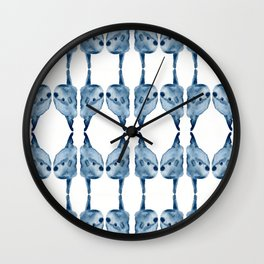 Indigo Sunfish Wall Clock