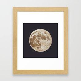 Moon Portrait 5, Linen Moon Framed Art Print