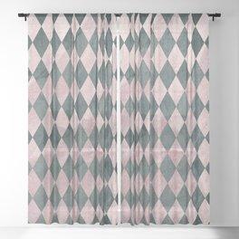 Marble Harlequin Sheer Curtain