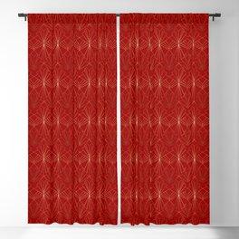 Crimson Red Art Deco Blackout Curtain