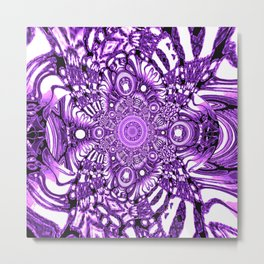 Precisely Abstract (Purple)  Metal Print
