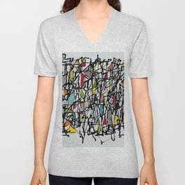 Abstract Composition 718 Unisex V-Neck