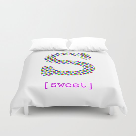 #S [sweet] Duvet Cover