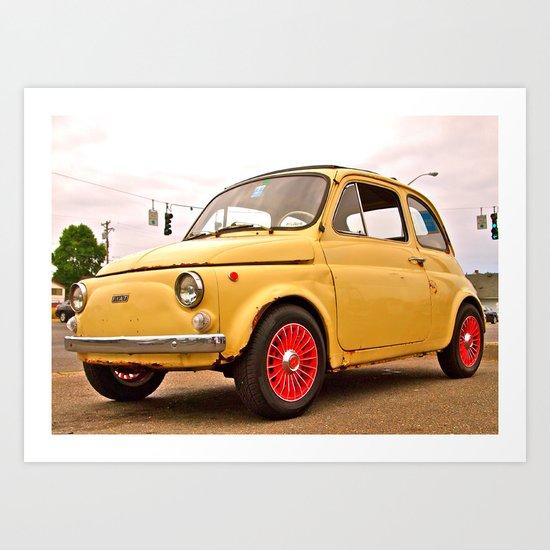 Classic Fiat 500 Art Print