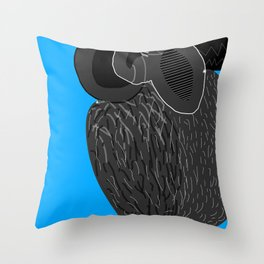 Ruthless Pigeon  Throw Pillow