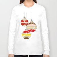 card Long Sleeve T-shirts featuring CHRISTMAS CARD by mark ashkenazi