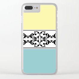 Damask decoration Clear iPhone Case