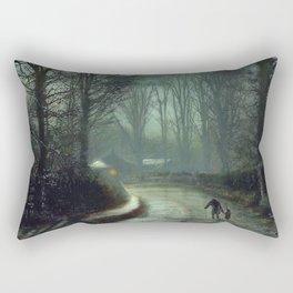 John Atkinson Grimshaw - Nearing Home - Victorian Retro Vintage Painting Rectangular Pillow