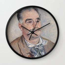 Portrait of Monsieur Coquette, Father (1880) by Claude Monet Wall Clock