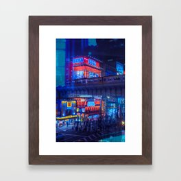 Tokyo Nights / Anime Town / Liam Wong Framed Art Print