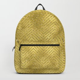 Gold ,Glitter and Chevrons Backpack