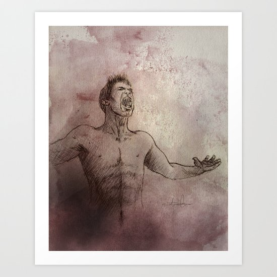 From ash and dust Art Print