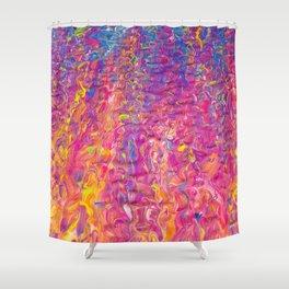 Rainbow Ripple Shower Curtain
