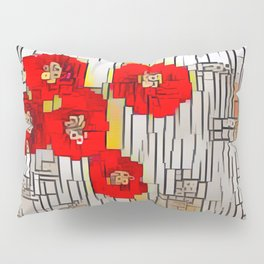 Cubism Poppies Pillow Sham