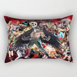 tekken,games,video,jin,kazama,devil,character,best,art, Rectangular Pillow