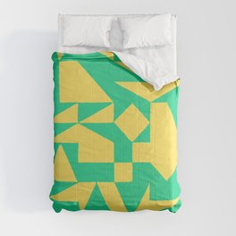 English Square (Yellow & Green) Comforters