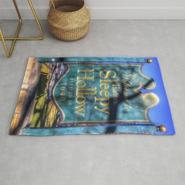 Sleepy Hollow Village Sign Rug